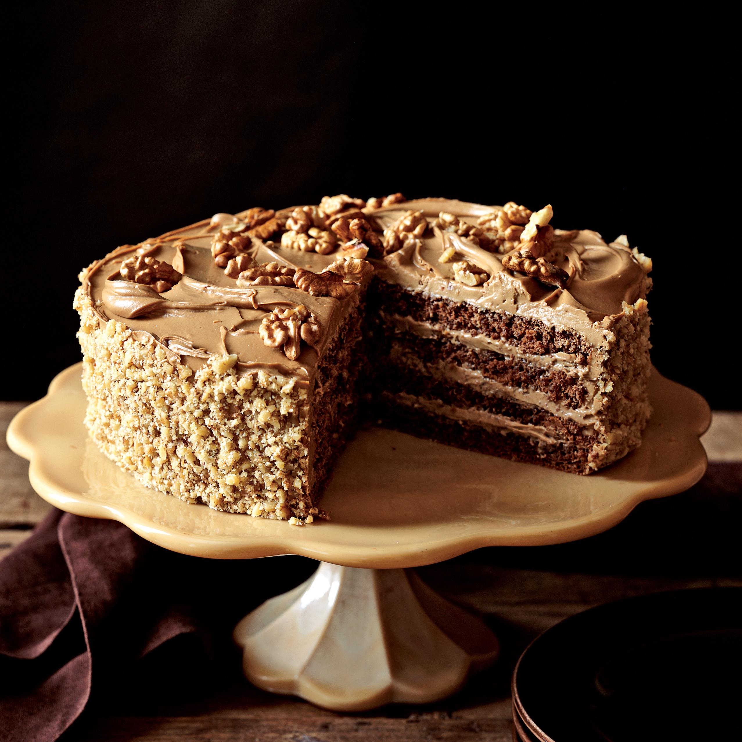 Moka & Hazelnut Cake